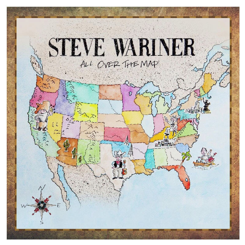Steve Wariner CD  All Over the Map   Steve Wariner