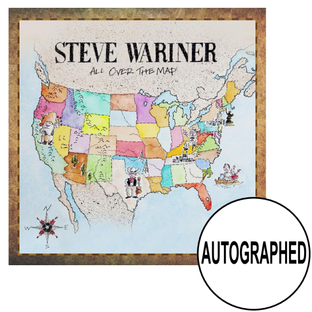 Steve Wariner AUTOGRAPHED CD- All Over the Map