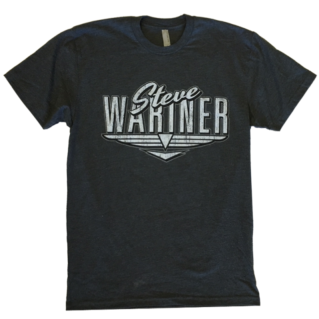 Steve Wariner Heather Charcoal Logo Tee